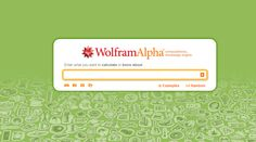 Wolfram Alpha introduces a fundamentally new way to get knowledge and answers—  not by searching the web, but by doing dynamic computations based on a vast collection of built-in data, algorithms, and methods.