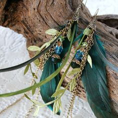 MERMAID TAILS Fantasy Feather Chain and by AngelfishOriginals, $40.00