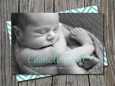 Custom print-it-yourself photo baby birth announcement - boy or girl on Etsy, $14.84 AUD