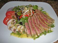 Chef JD's Classic Cuisine: Seared Steak Salad with Dijon Fennel Vinaigrette