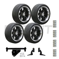 """3"""" Drive Lift and 14"""" Optimus Black with Backlash Tire Combo"""