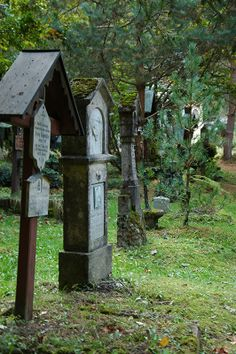 Old cemetery in the woods close to Innsbruck/Tyrol, Austria