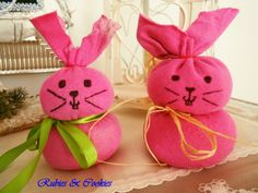 Stuffed bunnies for Easter. a great DIY for kids.