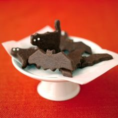 Start a new Halloween tradition: Bake chocolate cookies cut into the shapes of ghostly bats and cats.