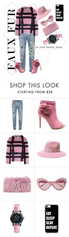 """""""Faux"""" by prissygurla1 ❤ liked on Polyvore featuring Dolce&Gabbana, Maison Michel, Mr & Mrs Italy, Moschino, Christian Dior and Casetify"""