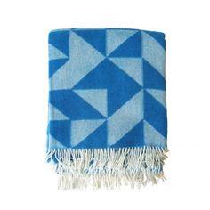 Twist A Twill Blanket Blue by Tina Ratzer