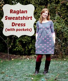 Beth Being Crafty: Raglan Sweatshirt Dress