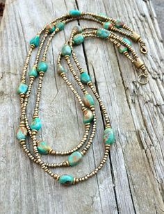 Multi strand necklace turquoise necklace boho by RusticaJewelry - empfohlen von First Class and More
