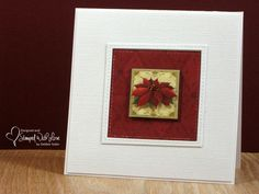 Christmas Poinsettia by swldebbie - Cards and Paper Crafts at Splitcoaststampers Poinsettia Cards, Christmas Poinsettia, Christmas Cards, Amazing Gardens, Beautiful Gardens, Christmas Challenge, Better Together, Diy Garden Decor, Love Design
