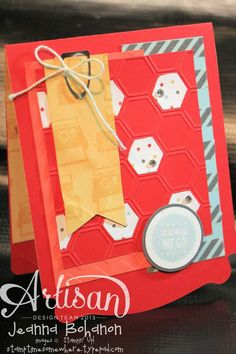 Away We Go Pop Up card - you HAVE to see the inside! Jeanna Bohanon