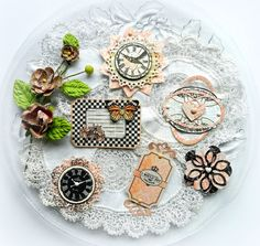 This set of layered dimensional embellishments will beautifully accent your scrapbook pages, handmade cards and tags, gifts, detail your mini