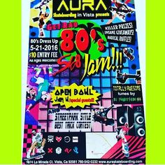 Instagram #skateboarding photo by @ed_devera - This Saturday on May 21 at 5pm go check out the 80s skateboard event @auratrainingfacility #fun #skateboarding #beststreetstyletrick #bestbowlrun #prizes #thankyouskateboarding. Support your local skate shop: SkateboardCity.co