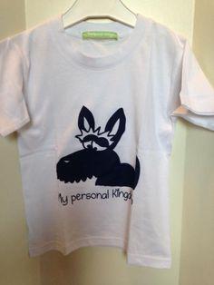 """Camiseta manga corta blanca"""" perro scottish"""" niño y niña"""