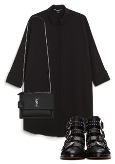 """""""Untitled #1539"""" by morggz ❤ liked on Polyvore featuring Monki, Yves Saint Laurent and Givenchy"""