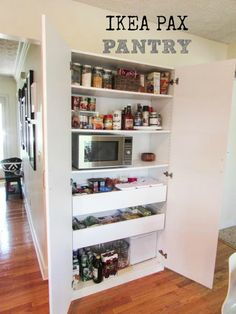 Ikea pax wardrobe used as a kitchen pantry ikea hacks - Ikea organizador cocina ...
