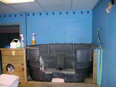 Stock tank horse trough dog bath grooming tub Rubbermaid