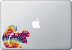 CLR:MB - Rainbow Tie Dye Squirrel - Vinyl Decal for Laptops   Tablets   Indoor Use © YYDC. (Size Variations Available)