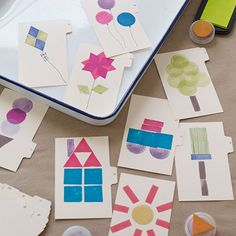 Make learning the alphabet fun: Create these alphabet flash cards with your kids using tabbed-letter index cards.
