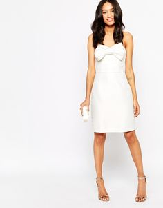 Image 4 of True Decadence Petite Bandeau Body-Conscious Dress With Bow