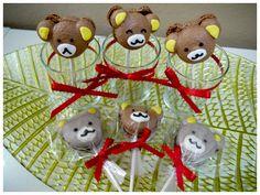 Bear Macaron lollipop