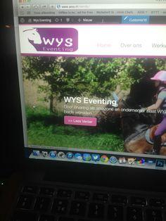 Website voor WYS Eventing in ontwikkeling