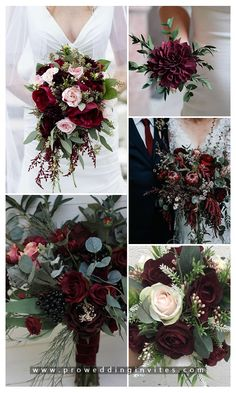 Burgundy or marsala is without doubt the most popular wedding color for the coming autumn and winter seasons. Winter Wedding Flowers, Fall Wedding Colors, Bridal Flowers, Floral Wedding, January Wedding Colors, Fall Wedding Arches, October Wedding, Fall Wedding Centerpieces, Wedding Decorations