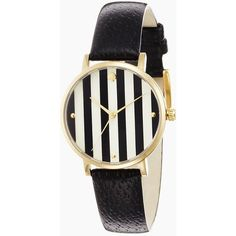 kate spade new york Metro (4.960 UYU) ❤ liked on Polyvore featuring jewelry, watches, accessories, bracelets, kate spade, black stripe, kate spade jewelry, leather jewelry, leather watches and water resistant watches