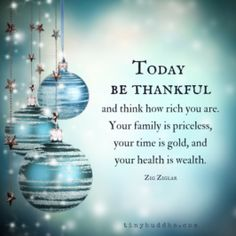Today, be thankful