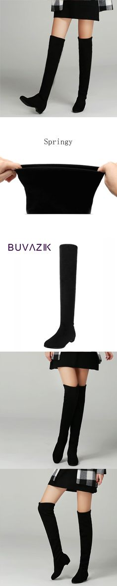 Slim stretch fabric boots sexy over the knee high women's fashion winter thigh high botas shoes woman good quality pointed toe