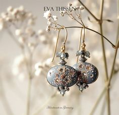 XERXES gorgeous handcrafted polymer clay earrings by EvaThissen