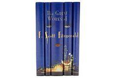 Juniper Books, LLC S/5 F. Scott Fitzgerald Books $195