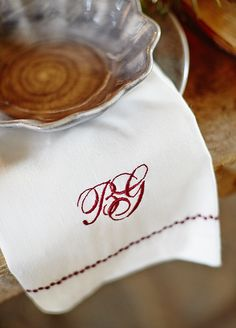 Holiday Napkins! Make your guests feel extra special.
