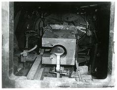 Inside a JagdTiger from schwere Panzerjäger-Abteilung 512, captured by USA army, 1945
