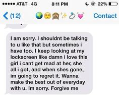 Apology text message to girlfriend