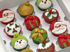 70 ideas for cupcakes decoration navidad natal Xmas Food, Christmas Sweets, Christmas Cooking, Christmas Goodies, Christmas Cakes, Christmas Christmas, Christmas Recipes, Amazon Christmas, Christmas Ornament