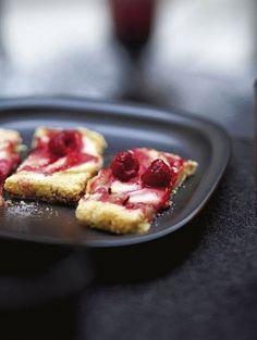 Plaattaart met peer & framboos - met Beekers Berries frambozen