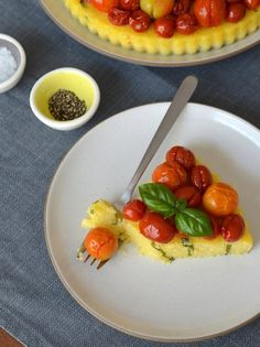 Late Summer Recipe: Polenta Tart with Roasted Cherry Tomatoes — Recipes from The Kitchn