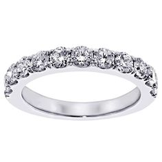 100 CT TW Split Prong Round Diamond Wedding Band in White Gold Size 65 >>> Check out the image by visiting the link. Wedding Ring Pictures, Wedding Ring Styles, Wedding Ring Designs, Wedding Jewelry, Wedding Ideas, Wedding Anniversary Rings, Diamond Anniversary, Womens Wedding Bands, Wedding Rings For Women
