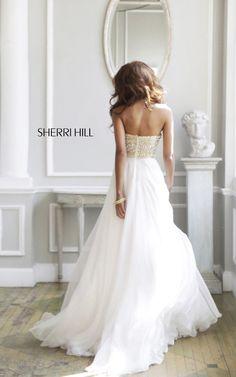 2014 White Prom Dress Sherri Hill 11152