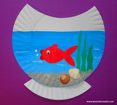 Cute paper plate fish bowl craft for kids Daycare Crafts, Classroom Crafts, Toddler Crafts, Crafts For Kids, Paper Plate Art, Paper Plate Crafts, Paper Plate Fish, Paper Plates, Summer Art Projects