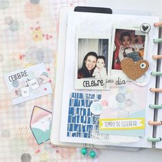 Scrap no caderno inteligente! Scrap, Polaroid Film, Notebook