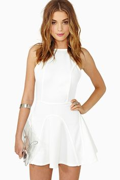 Nasty Gal Full Of Mischief Dress - White