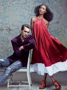 Jasmine Tookes and Tobias Sorensen - they are models and a couple..I have a crush on their gorgeousness, style and fun selfies
