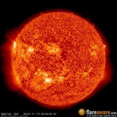 The hourly sun (at 03:45 am  UTC on 11 November 2012)