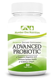 #1 Probiotic Supplement - All Natural Formula Promotes Optimal Health for Women, Men, and Kids. Improve Immune System Function, Colon Health, and Digestion! Safe Formula with Lactobacillus, Acidophilus, and Billions of Live Cultures and Intestinal Flora in Every Serving. Number One Nutrition Advanced Probiotics are 100% Vegetarian with No Known Side Effects! Experience Dramatically Improved Health or 200% Money Back Guarantee ! Number One Nutrition ...