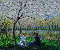 Springtime 1886 Oil Painting by Claude Monet