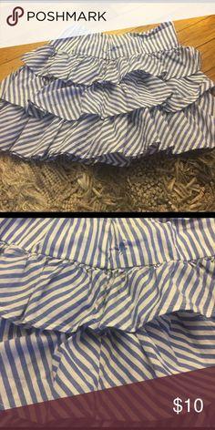 Ralph Lauren Skirt Blue and white striped ruffle skirt. Pet and smoke free home. Ralph Lauren Bottoms Skirts