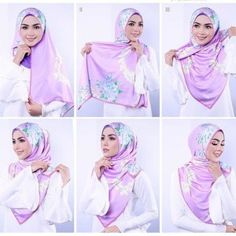 Beautiful and simple look Floral Hijab