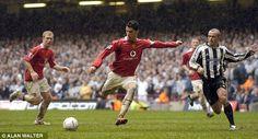Ronaldo grabs a goal in the FA Cup semi-final against Newcastle