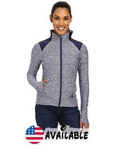 B01094GPZU : The North Face Women's Pseudio Jacket Patriot Blue Heather/Patriot Blue (X-Large). This durable and versatile outer layer for outdoor training is an essential piece that moves from the morning chill to the afternoon warmth. Ultra-soft tech fabric with strategically placed insulation for warmth. Media compatible. On-seam secure-zip hand pockets. Thumb-loop cuffs #Sports #OUTERWEAR